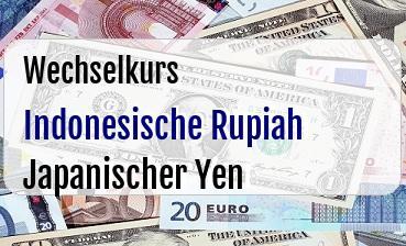 Indonesische Rupiah in Japanischer Yen