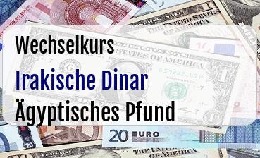 Irakische Dinar in Ägyptisches Pfund