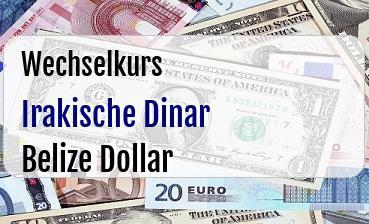 Irakische Dinar in Belize Dollar