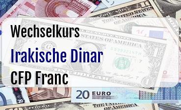 Irakische Dinar in CFP Franc