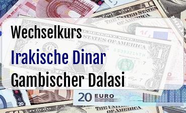 Irakische Dinar in Gambischer Dalasi