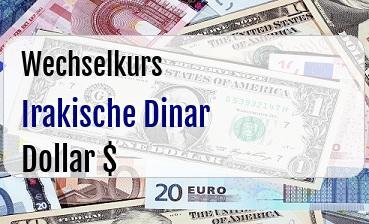 Irakische Dinar in US Dollar
