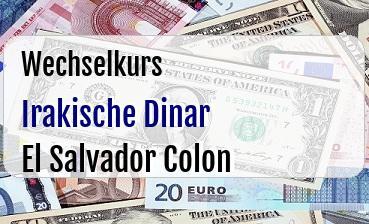 Irakische Dinar in El Salvador Colon