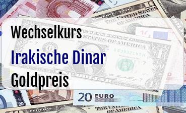 Irakische Dinar in Goldpreis