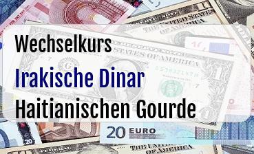Irakische Dinar in Haitianischen Gourde