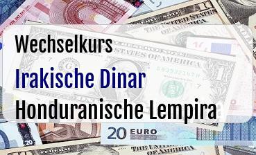 Irakische Dinar in Honduranische Lempira