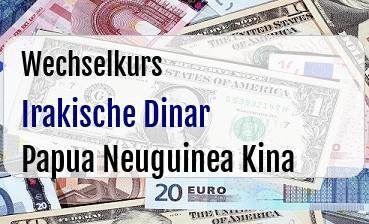 Irakische Dinar in Papua Neuguinea Kina