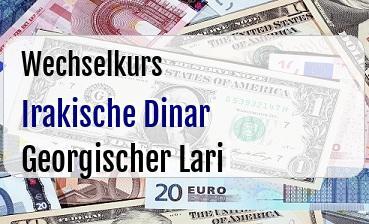 Irakische Dinar in Georgischer Lari
