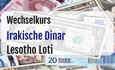 Irakische Dinar in Lesotho Loti