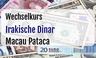 Irakische Dinar in Macau Pataca