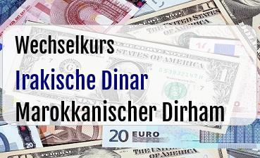 Irakische Dinar in Marokkanischer Dirham