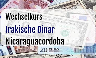Irakische Dinar in Nicaraguacordoba