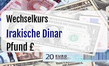 Irakische Dinar in Britische Pfund