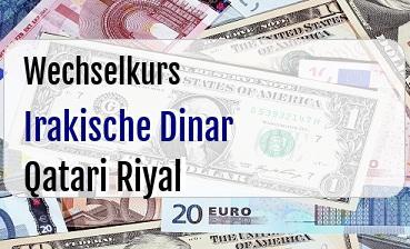 Irakische Dinar in Qatari Riyal