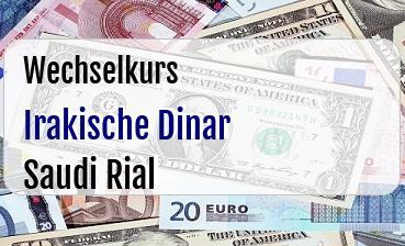 Irakische Dinar in Saudi Rial