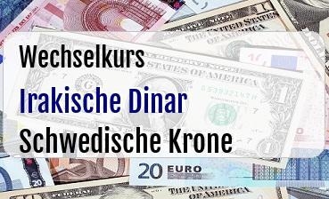 Irakische Dinar in Schwedische Krone