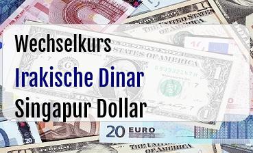Irakische Dinar in Singapur Dollar