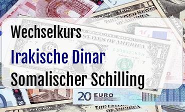 Irakische Dinar in Somalischer Schilling