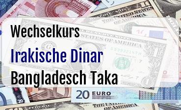 Irakische Dinar in Bangladesch Taka
