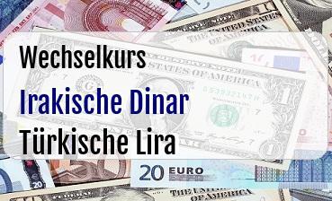 Irakische Dinar in Türkische Lira