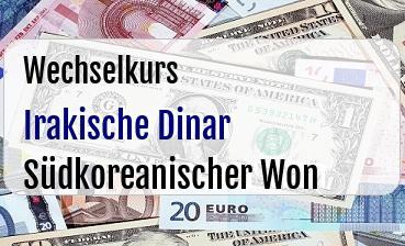 Irakische Dinar in Südkoreanischer Won