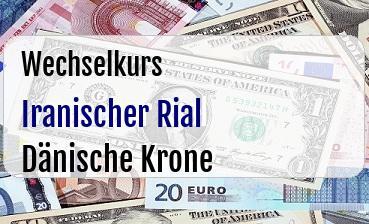 Iranischer Rial in Dänische Krone