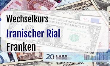 Iranischer Rial in Schweizer Franken