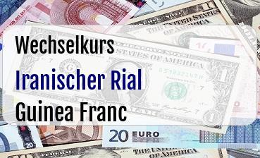 Iranischer Rial in Guinea Franc