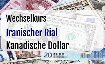 Iranischer Rial in Kanadische Dollar
