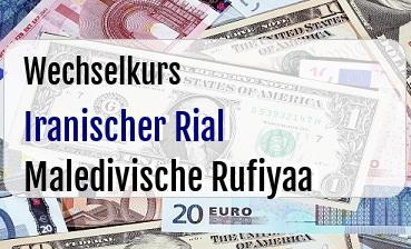 Iranischer Rial in Maledivische Rufiyaa
