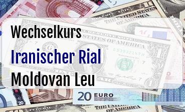 Iranischer Rial in Moldovan Leu