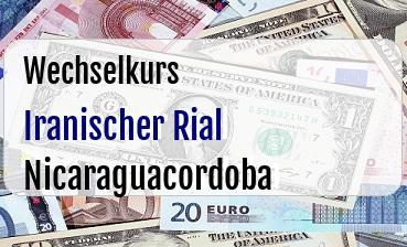 Iranischer Rial in Nicaraguacordoba