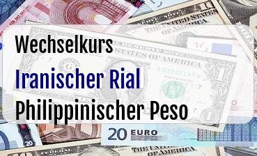 Iranischer Rial in Philippinischer Peso