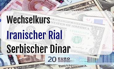 Iranischer Rial in Serbischer Dinar