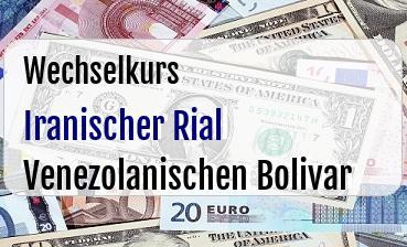 Iranischer Rial in Venezolanischen Bolivar