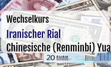 Iranischer Rial in Chinesische (Renminbi) Yuan