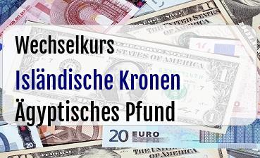 Isländische Kronen in Ägyptisches Pfund