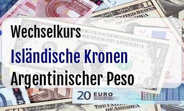 Isländische Kronen in Argentinischer Peso