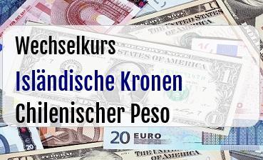 Isländische Kronen in Chilenischer Peso