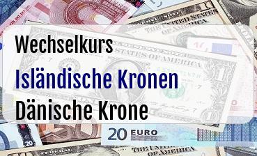 Isländische Kronen in Dänische Krone