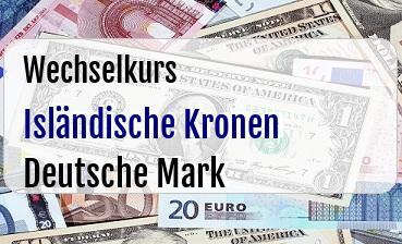 Isländische Kronen in Deutsche Mark