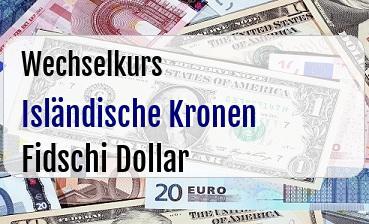 Isländische Kronen in Fidschi Dollar