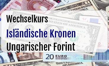 Isländische Kronen in Ungarischer Forint