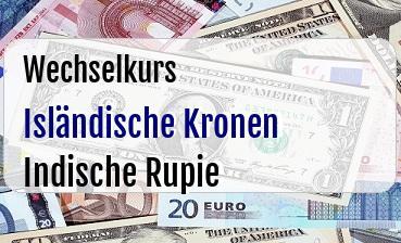 Isländische Kronen in Indische Rupie