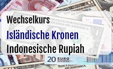 Isländische Kronen in Indonesische Rupiah