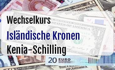 Isländische Kronen in Kenia-Schilling