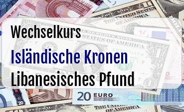 Isländische Kronen in Libanesisches Pfund