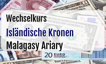 Isländische Kronen in Malagasy Ariary