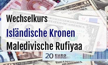 Isländische Kronen in Maledivische Rufiyaa