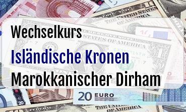 Isländische Kronen in Marokkanischer Dirham